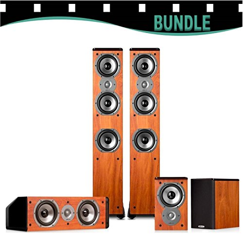Polk Audio TSi400 5.0 Home Theater Speaker Package ( Cherry ) Special Price