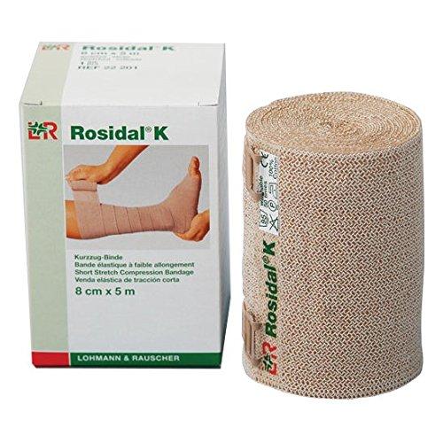 Lohmann & Rauscher Rosidal K Short Stretch Compression Bandage, 3.14'' x 5.5 Yards (8 cm x 5 m), Case of 20 by Lohmann&Rauscher