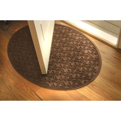 Aqua Shield Dogwood Leaf Mat Size: Oval 3' x 4', Color: Dark Brown