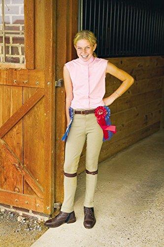 TuffRider Kid's Cotton Lowrise Pull-On Jods, Light Tan, 10