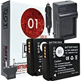 DOT-01 2x Brand Panasonic Lumix DC-GX9 Batteries and Charger for Panasonic Lumix DC-GX9 Mirrorless and Panasonic GX9 Battery and Charger Bundle for Panasonic BLG10 DMW-BLG10