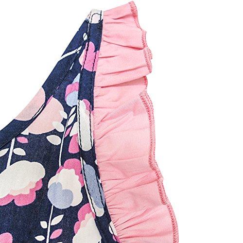 Sole Vestono Prendisole Ruffle 8 Anni Halter Di colore 4 Di Ragazze Multi Modo Dimensioni Fiore Smocked qgFqtIW