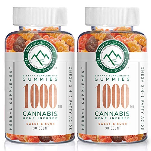 2-Pack-Organic-Hemp-Chewy-Bears-1000MG-Active-Joint-Muscle-Relief-Better-Sleep-Sweet-Sour-Infused-with-Colorado-Grown-Hemp-Rich-in-Omega-3-6-9-Vitamin-E-Non-GMO-Vegan