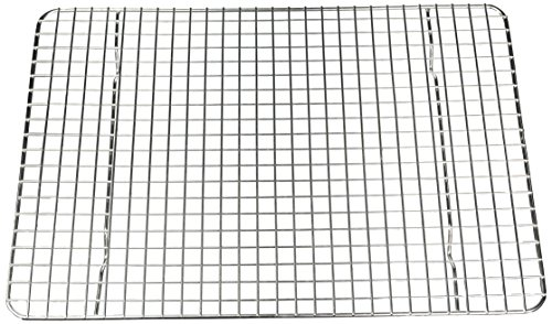Premium Quality 12x17 Cooling Rack by BelKon Kitchenware, 100% Stainless Steel, Non-stick, Strong Thick Gauge Wire Grid, Oven & Dishwasher safe, 500FHeat Resistance, Fits Half Sheet Pan