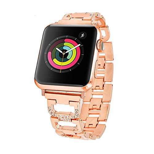 Ashipher Apple Watch band for 38 & 42 mm Rose gold