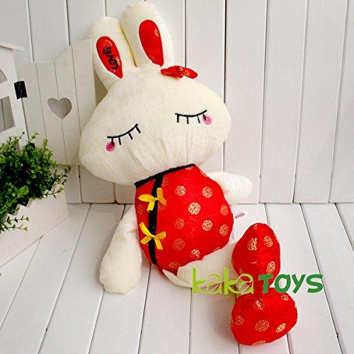 Kaka Toys 1 Pcs Toys Cute & Lovely Bedtime Plush Animal /Huge Plush Toy Soft Doll,the Best Gift for Kids/children/girlfriend, Soft Stuffed Plush Toy- Rabbit Wearing Tang Suit,27.5 Inch / 70cm