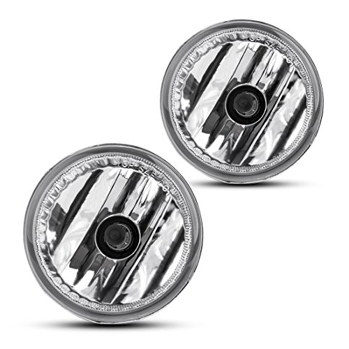 Fog Lights For Toyota Prius 2004 2005 2006 2007 2008 2009 (OE Style Real Glass Clear Lens w/ 9006 12V 51W Bulbs)