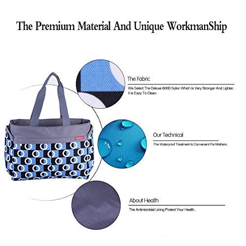 Moda Multifuncional Conjuntos Totalizador de Momia Bolsa de Cambiar Pañal del Bebé Bolso del Pañal Bolsa de Hombro púrpura