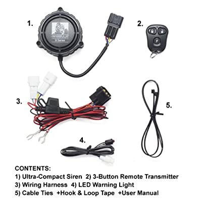 Gorilla Automotive 9000 Motorcycle Alarm with Remote Transmitter: Automotive