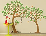 Pop Decors ''Lovely Pine Tree'' Nursery Vinyl Wall Stickers for Kids Play Rooms