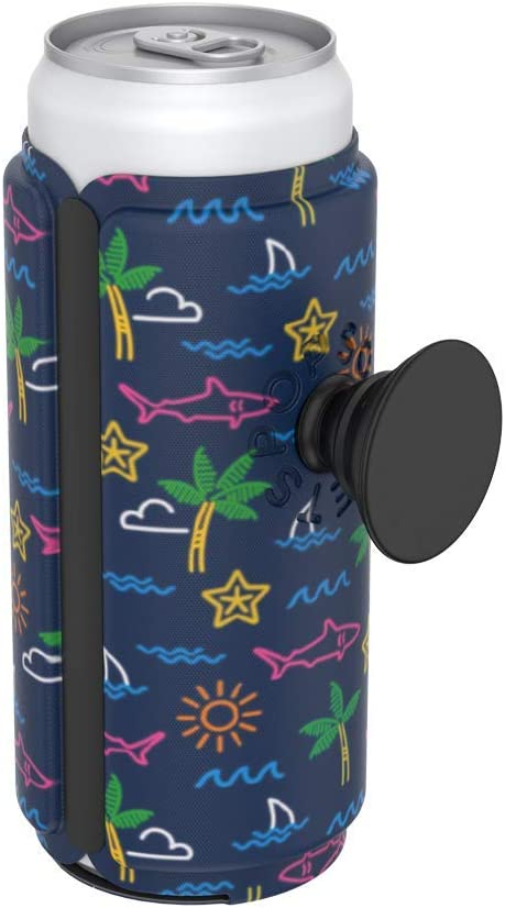 Neon Tropicali Slim Can PopSockets PopThirst Can Holder and Swappable Grip