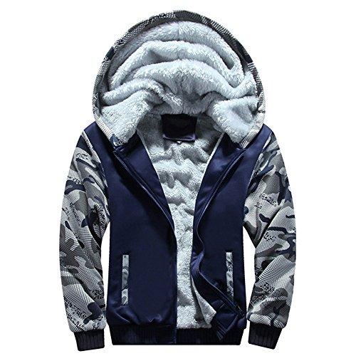 b60c06012 GREFER New Mens Tracksuit Warm Fleece Sport Hooded Sweatshirt Coat Hoodies+Pants  Sweat Suit