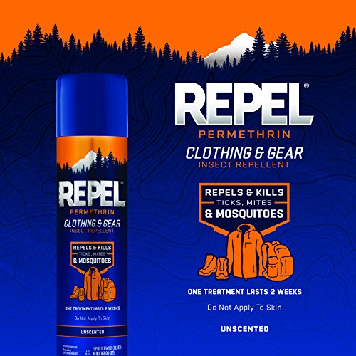 Repel Permethrin Clothing & Gear Insect Repellent, Aerosol,