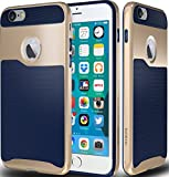 iPhone 6 / 6s Case, CellEver AeroPro Defense Series Slim Shock-Absorbing TPU Case (Navy Blue / Gold)