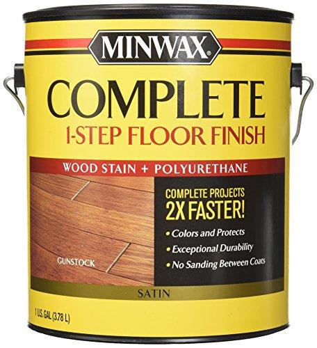 - Minwax 672090000 Complete 1 Step Floor Finish, 1 Gallon, Gunstock