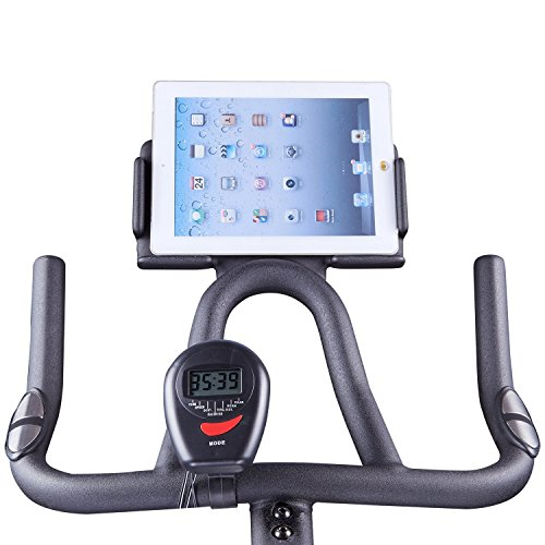 Indoor Cycling Bike with iPad Holder, Exercise Bike Fitness Bicycle Stationary Indoor Cycle Trainer with Heart Pulse Sensors for Fitness Gift by HARISON B1850