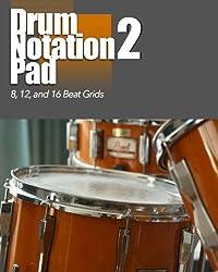 Drum Notation Pad 2: 8, 12, 16 Grids