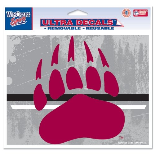 "Montana Grizzlies Official NCAA 4.5""x6"" Car Window Cling Decal by Wincraft"