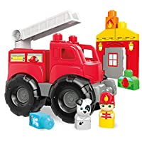 Deals on Mega Bloks Fire Truck Rescue Building Set