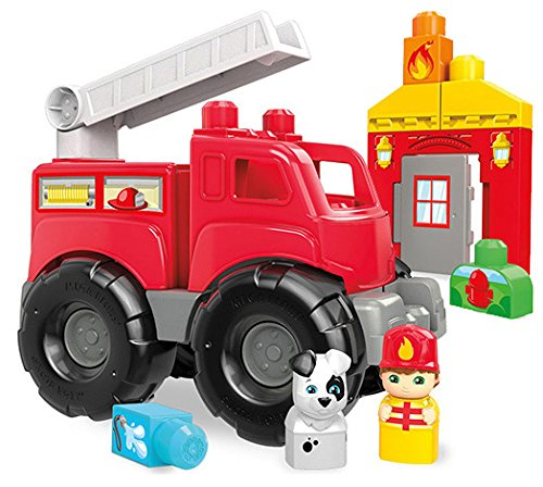 Mega Bloks Fire Truck Rescue Building - Story Toy Truck Fire
