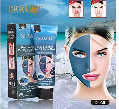Price comparison product image DR.RASHEL Dead Sea Mud Collagen Mask Deep Clean Acne Treatment Peel Off Facial Whiten Pore Purify 120ml by RubyShop