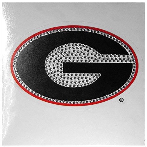 Siskiyou NCAA Georgia Bulldogs Unisex Vinyl Bling Automotive Decal, Red, 5