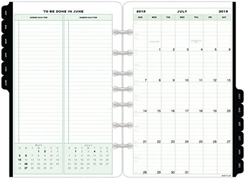 image relating to Page a Day Planners titled Working day-Timer 2019-2020 Day by day Planner Refill, July Begin, 5-1/2