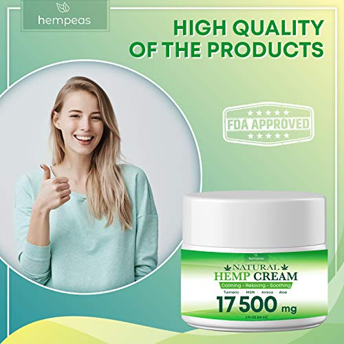 51jfOvhqB6L - BLOOMCROP Organic Hemp Pain Relief Extract 17 500 Mg, Made in USA, Non-GMO, Natural Hemp Oil for Pain Relief