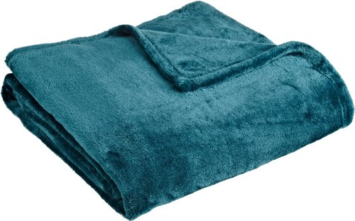 Northpoint Cashmere Plush Velvet Throw, Teal, 50' x 60'