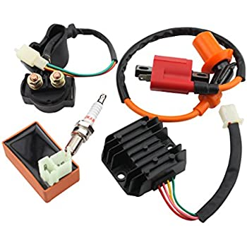 Atv Parts & Accessories Sincere New Ignition Coil Cdi Regulator Rectifier Relay Kit For 50 70 90 110cc Chinese Atv