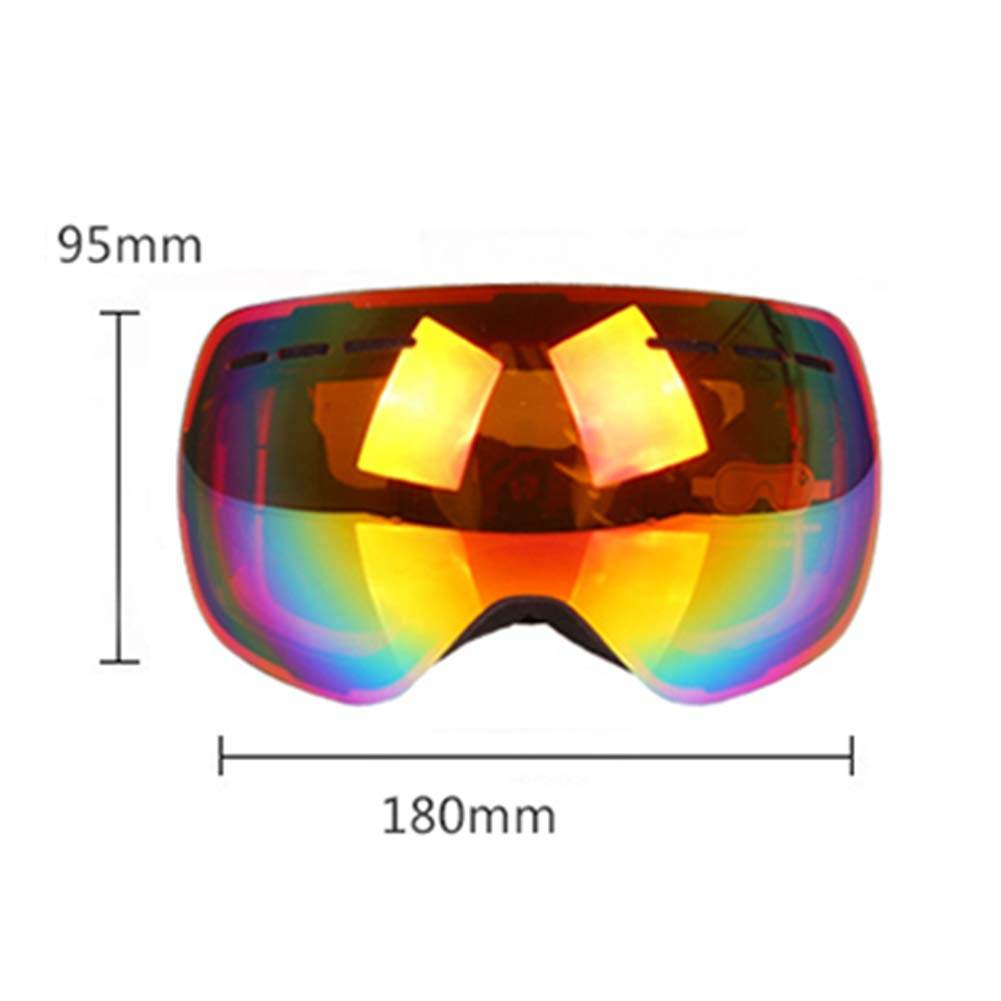 Damen Ski-Brille Wide Field of View Anti-Snow Anti-Snow Anti-Snow Blind UV Permanent Anti-Fog Windproof Adult Double Layer Mirror Mountain Goggles Snowmobile Snowboard Large Sphere B07KDCZV8G Skibrillen Exportieren cf54be
