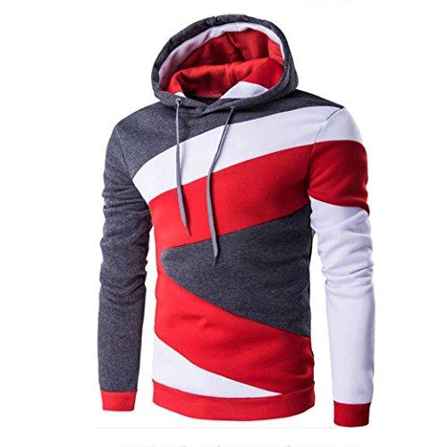 - Hemlock Hoodie Sweatshirt Tops, Men's Jumper Sweater Winter Jacket Coat Outwear (L, Grey)