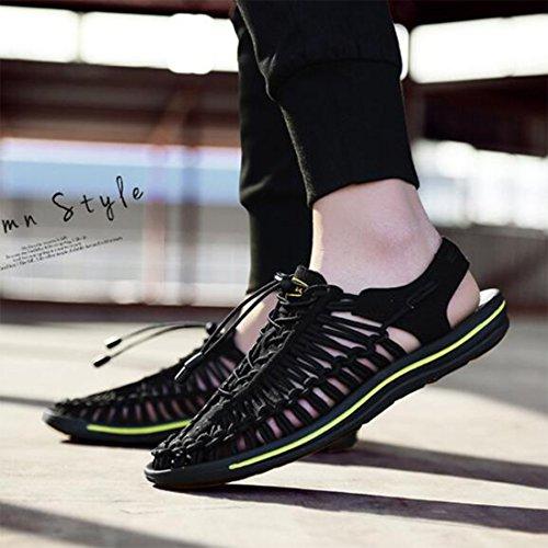 Playa De Sandalias Verano Pantuflas Black De De Ocasionales Zapatos Moda Sandalias para Transpirables Y Hombres wwZqPr7