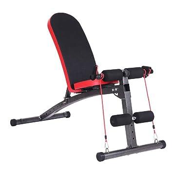 Mesa de Pesas Plegable Silla de Fitness Multifuncional Supine Board Banco de Pesas con Mancuernas pequeño