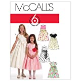 McCall's Patterns M5795 Children's/Girls' Lined Dresses and Sash, Size CHJ (7-8-10-12-14)