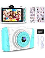 WOWGO Kids Digital Camera - 12MP Children's Selfie Camera with 3.5 Inches Large Screen for Boys and Girls,1080P Rechargeable Electronic Camera with 32GB TF Card photo