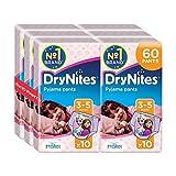 Huggies DryNites Girls Pants 3-5 Years, Designs May Vary - 6 Packs (Total 6 x 10 Wipes) by Huggies