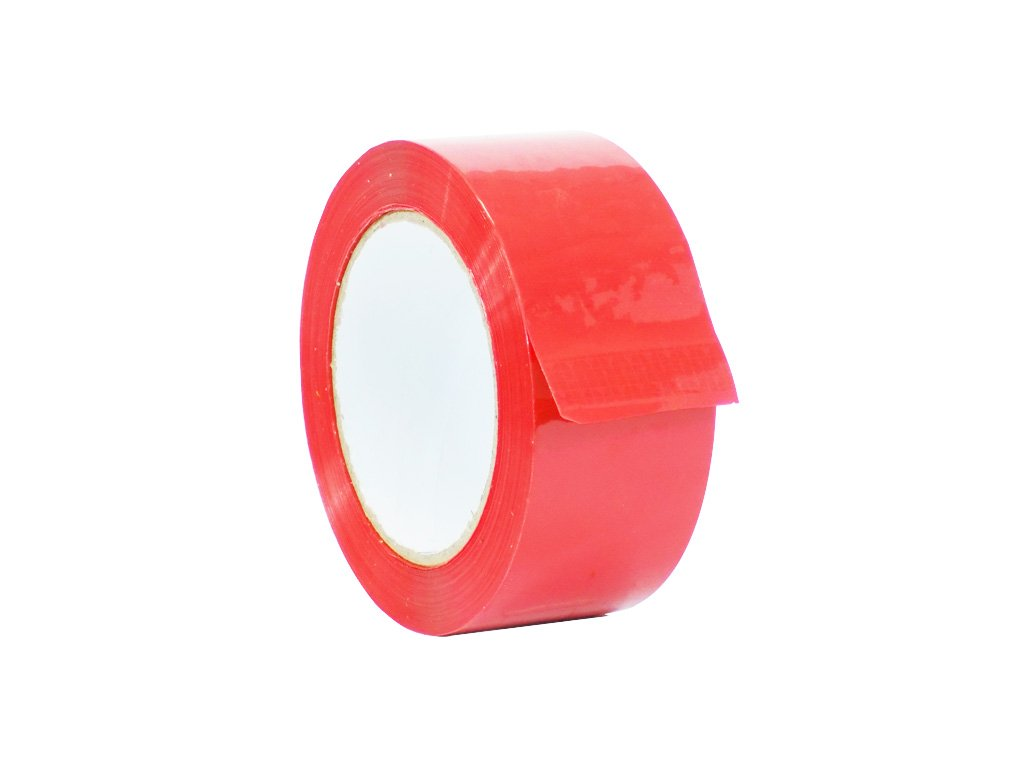 WOD CSTC22SBA Red Carton Sealing Tape, 1.5 inch x 110 yds. 2 mils Thick, Strong Heavy-Duty Industrial Shipping Packaging Tape for Moving, Office, & Storage