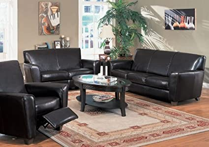 Incredible 3Pc Contemporary Havana Espresso Leather Chair Loveseat Sofa Set Machost Co Dining Chair Design Ideas Machostcouk