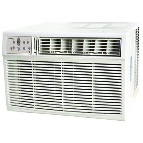 Koldfront WAC18001W 18,500 BTU 208/230V Heat/Cool Window Air Conditioner - Seal Heater Air