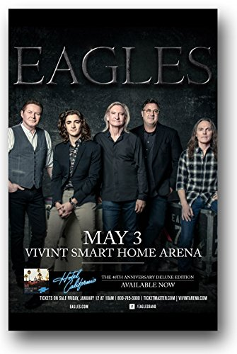 The Eagles Poster - Band 11 x 17 Hotel California 40th Anniversary Tour -Don Henly 2018