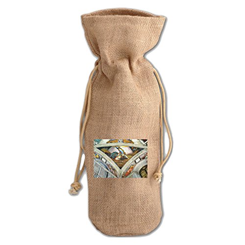 David Und Goliath (Michelangelo) Jute Burlap Burlap Wine Drawstring (David Goliath Bags)
