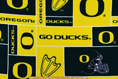 (Oregon Ducks FLEECE NCAA Collegiate Fabric by the Yard)