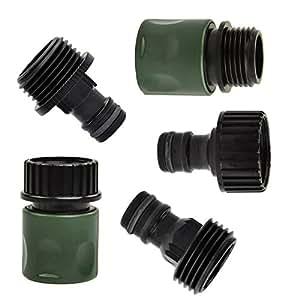 Desconocido 5pcs plástico Jardín grifo de manguera de conexión rápida Kit Adaptador de conector para manguera de 3/4
