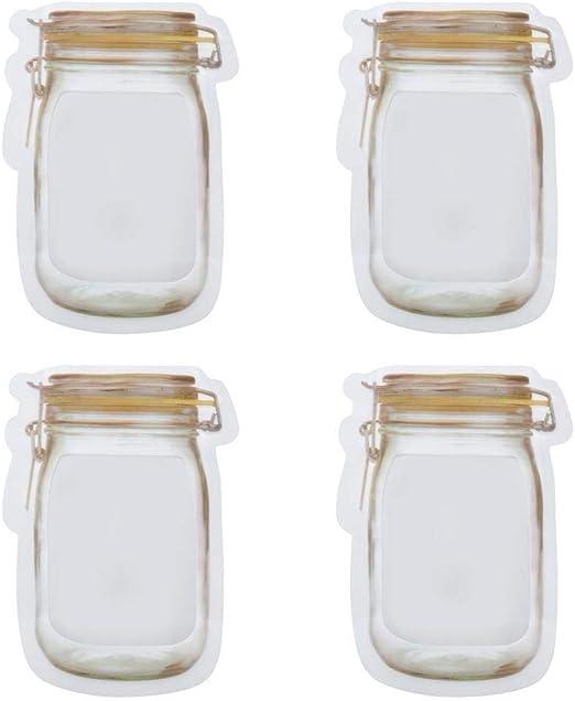 Respetuoso del Medio Ambiente Bolsa de Almacenamiento de Sellado de plástico Transparente. Botella Multiusos portátil Zip Lock Sack for bocadillos de maní (Rojo M) Grande (Size : Yellow S): Amazon.es: Hogar