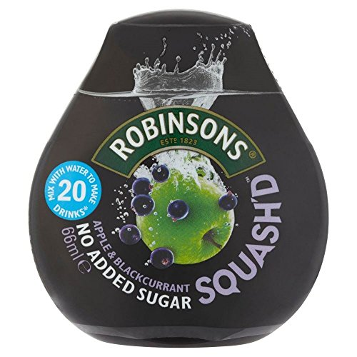Robinsons Apple (Robinsons Squash'd Apple & Blackcurrant No Added Sugar (66ml) - Pack of 2)