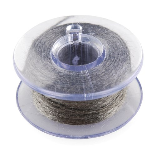 Strand 30' Spool - CanaKit Conductive Thread Bobbin (Pack of 2 x 30ft Bobbins)