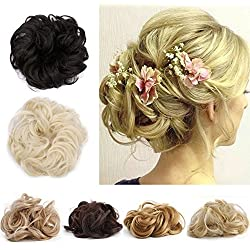 Messy Hair Bun Extensions Hair Piece Curly Hair Scrunchies Elegant Chignon Hair Donut Scrunchy Updo Pony Tail