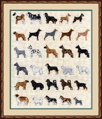 Pegasus Originals Working Dog Minis Counted Cross Stitch Cha