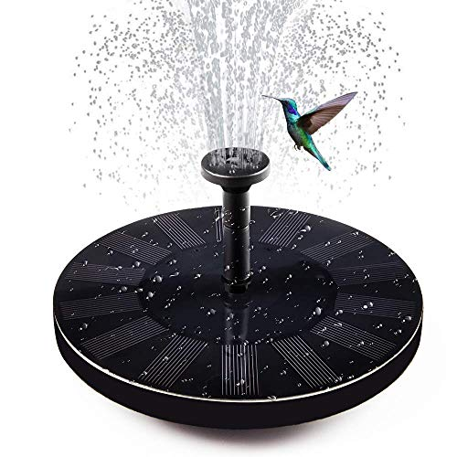 soyond Solar Fountain Pump Solar Power Water Birdbath Fountain Pump kit Outdoor with 4 Different Spray Pattern Heads Perfect for Bird Bath, Fish Tank, Pond, Pool, Garden (Upgraded Version)